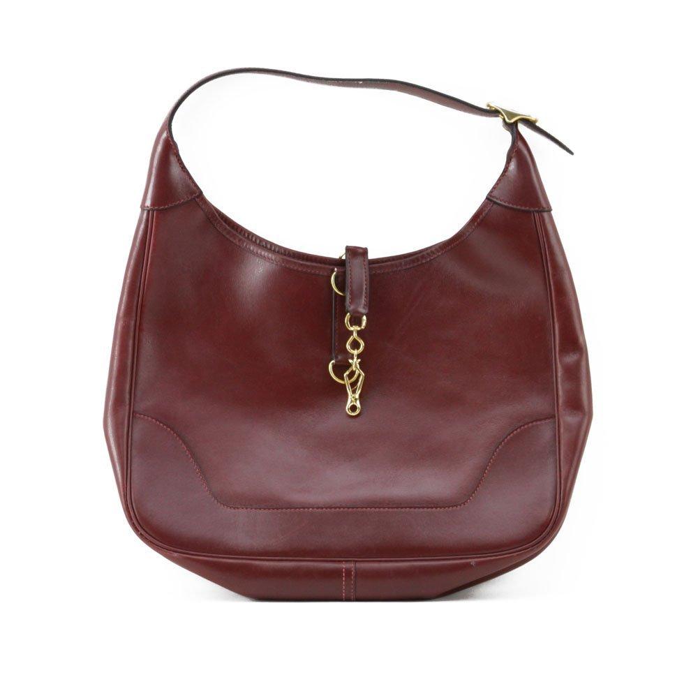 """Hermes France """"Rouge-Togo"""" Genuine Leather Handbag. Zip"""
