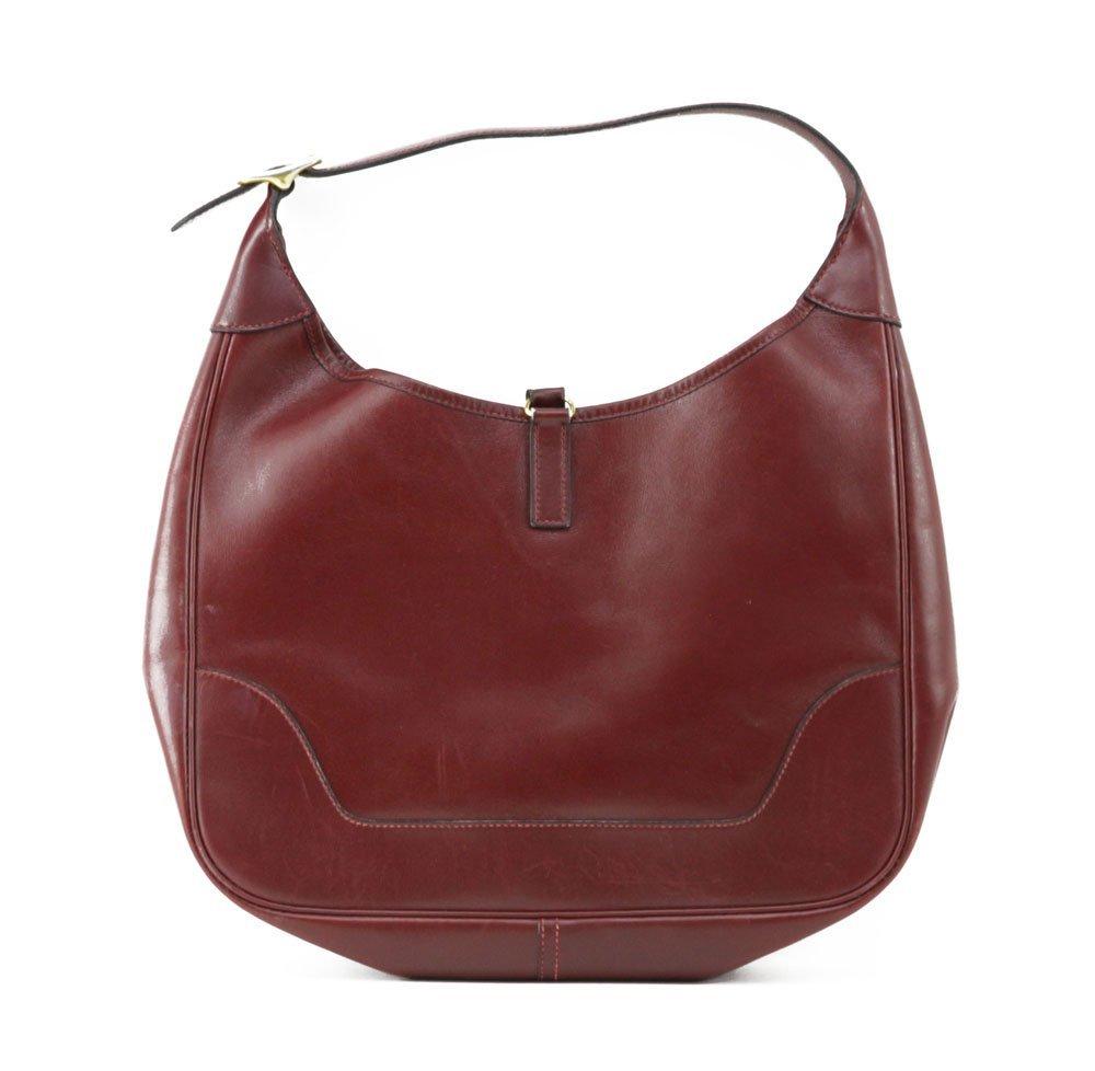 """Hermes France """"Rouge-Togo"""" Genuine Leather Handbag. Zip - 2"""