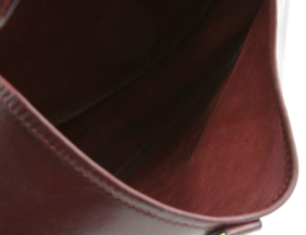 """Hermes France """"Rouge-Togo"""" Genuine Leather Handbag. Zip - 3"""