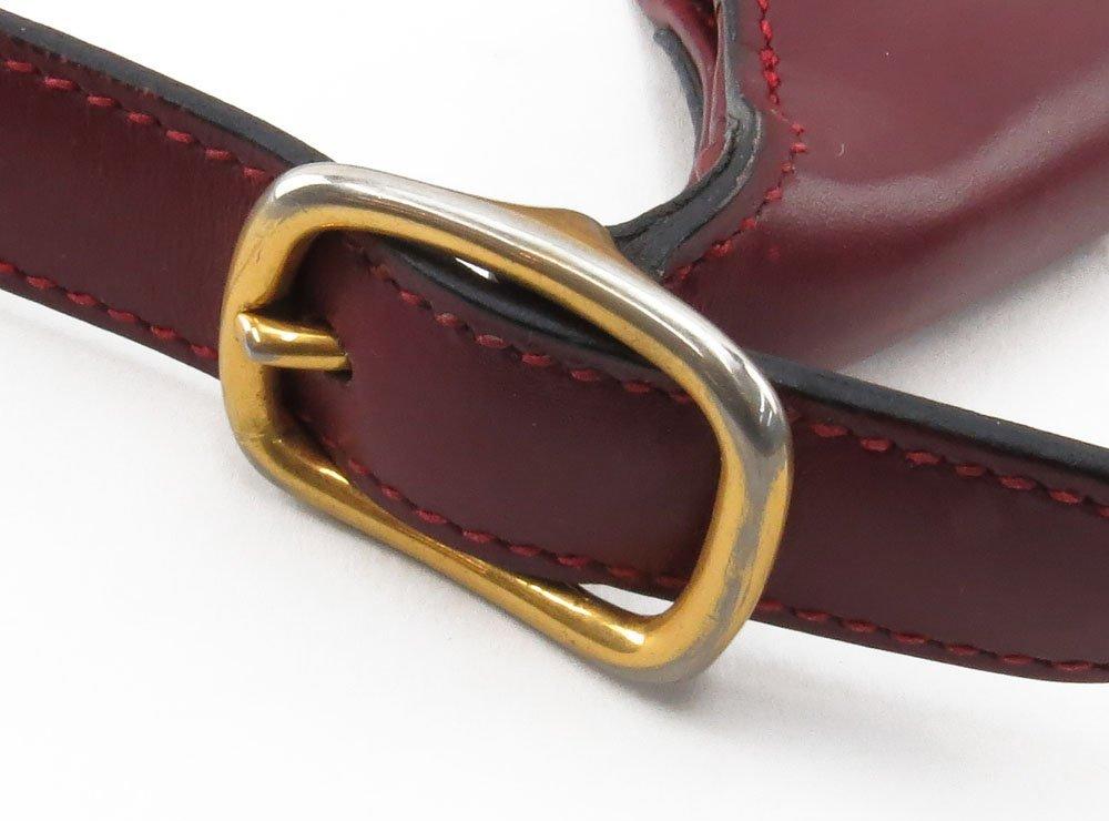 """Hermes France """"Rouge-Togo"""" Genuine Leather Handbag. Zip - 5"""