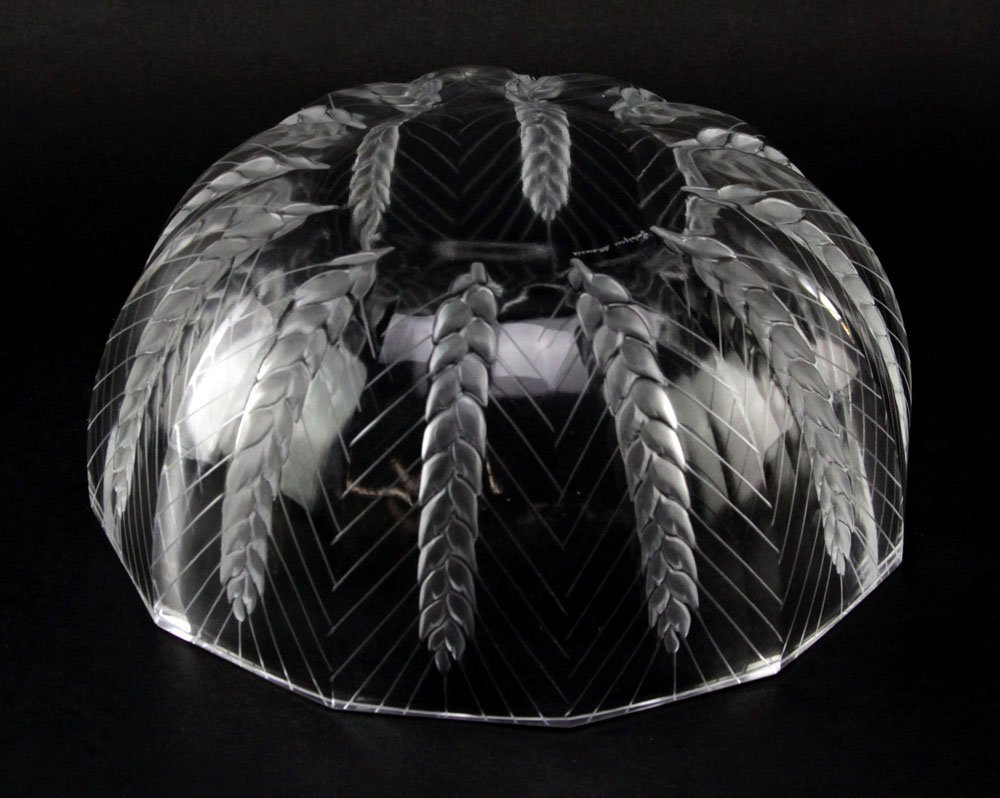 """Lalique France """"Ceres"""" Etched Crystal Bowl. Depicts: - 3"""