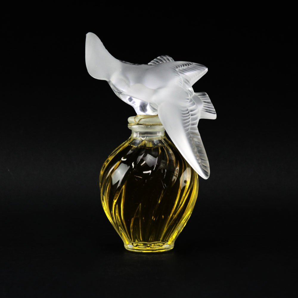 "Lalique Clear and Frosted Crystal  ""L'Air Du Temps"""