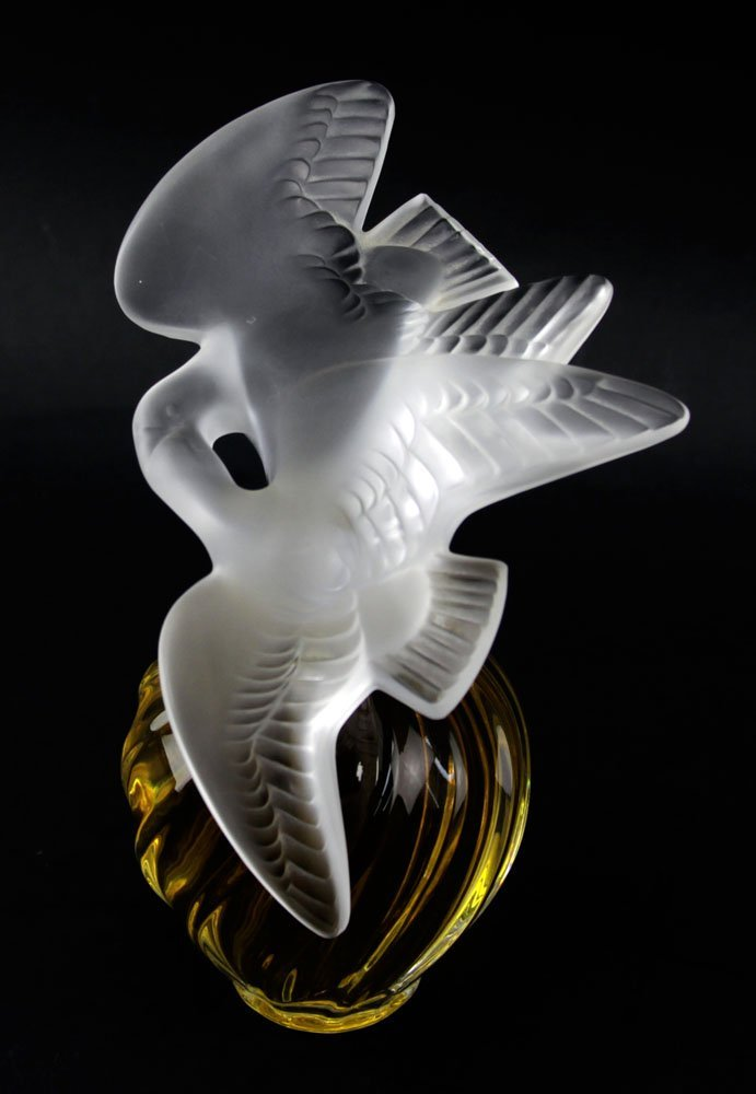 "Lalique Clear and Frosted Crystal  ""L'Air Du Temps"" - 3"