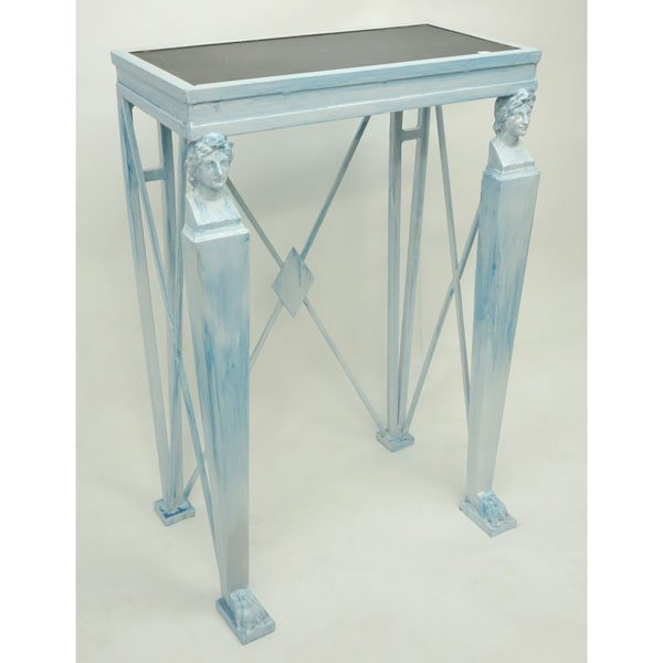 20th Century Empire style Painted Metal Console Table