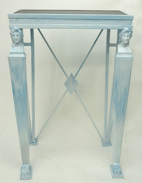 20th Century Empire style Painted Metal Console Table - 2
