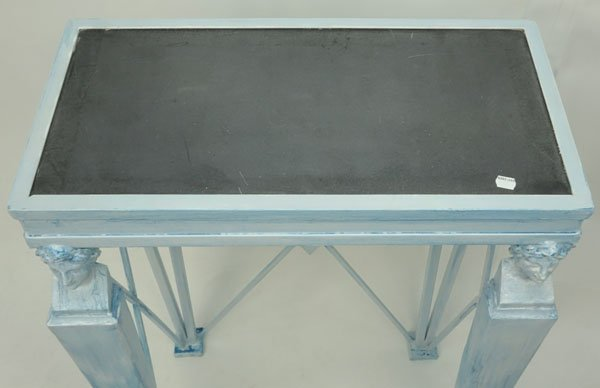 20th Century Empire style Painted Metal Console Table - 3