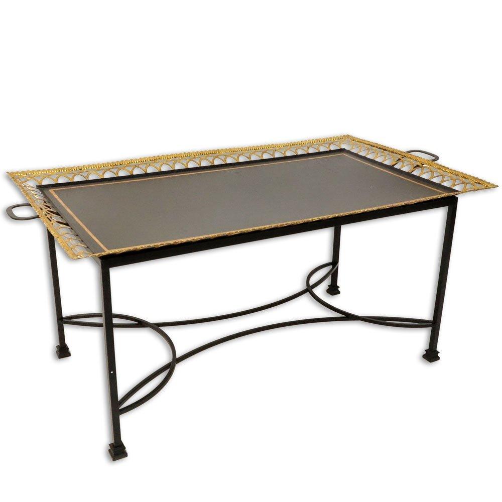 Niermann Weeks Regency Style Tole Tray Table. Gilt
