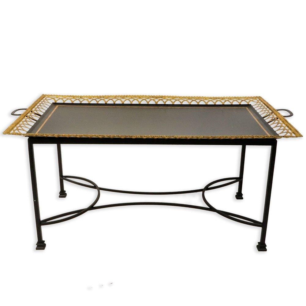 Niermann Weeks Regency Style Tole Tray Table. Gilt - 2