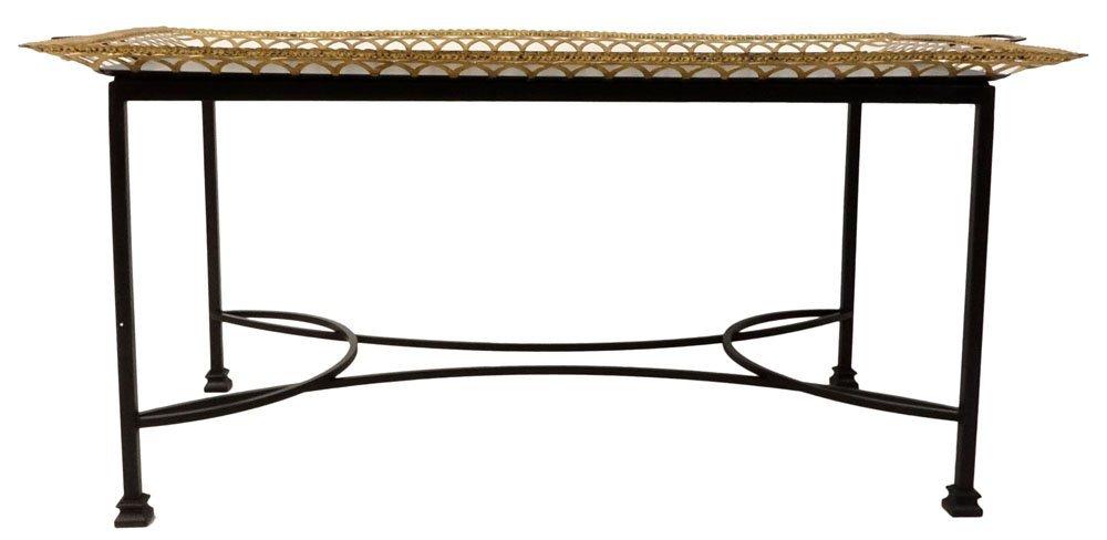 Niermann Weeks Regency Style Tole Tray Table. Gilt - 3