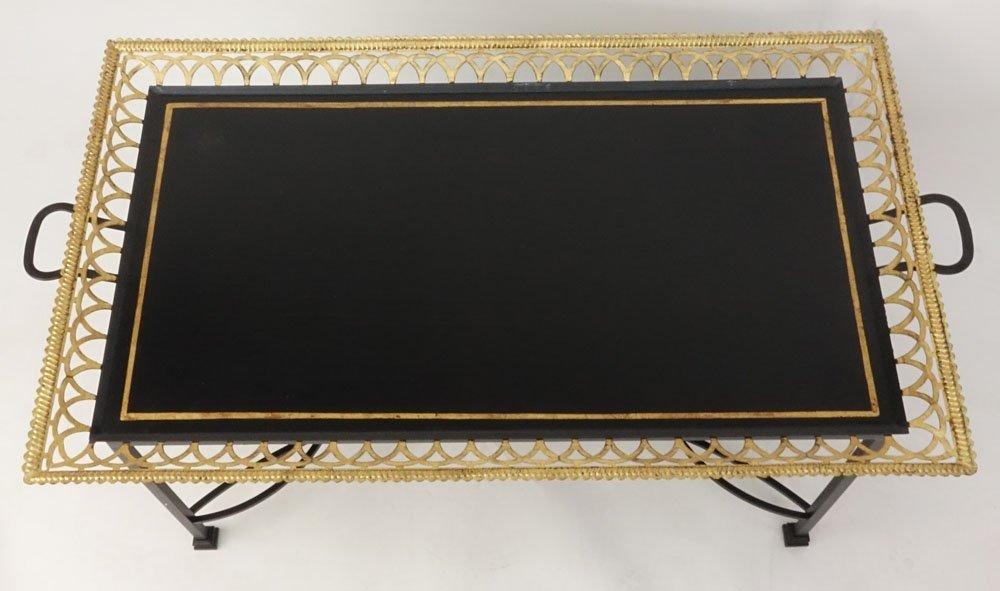 Niermann Weeks Regency Style Tole Tray Table. Gilt - 4