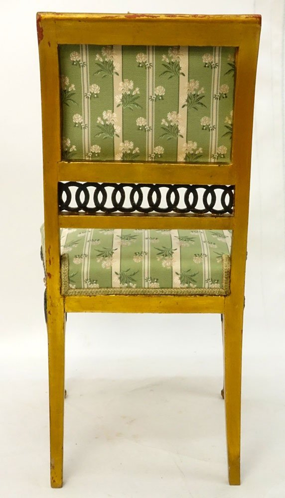 19th Century Italian Painted Directoire Side Chair. - 3