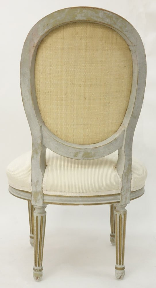 19/20th Century Louis XVI Style Painted Upholstered - 3