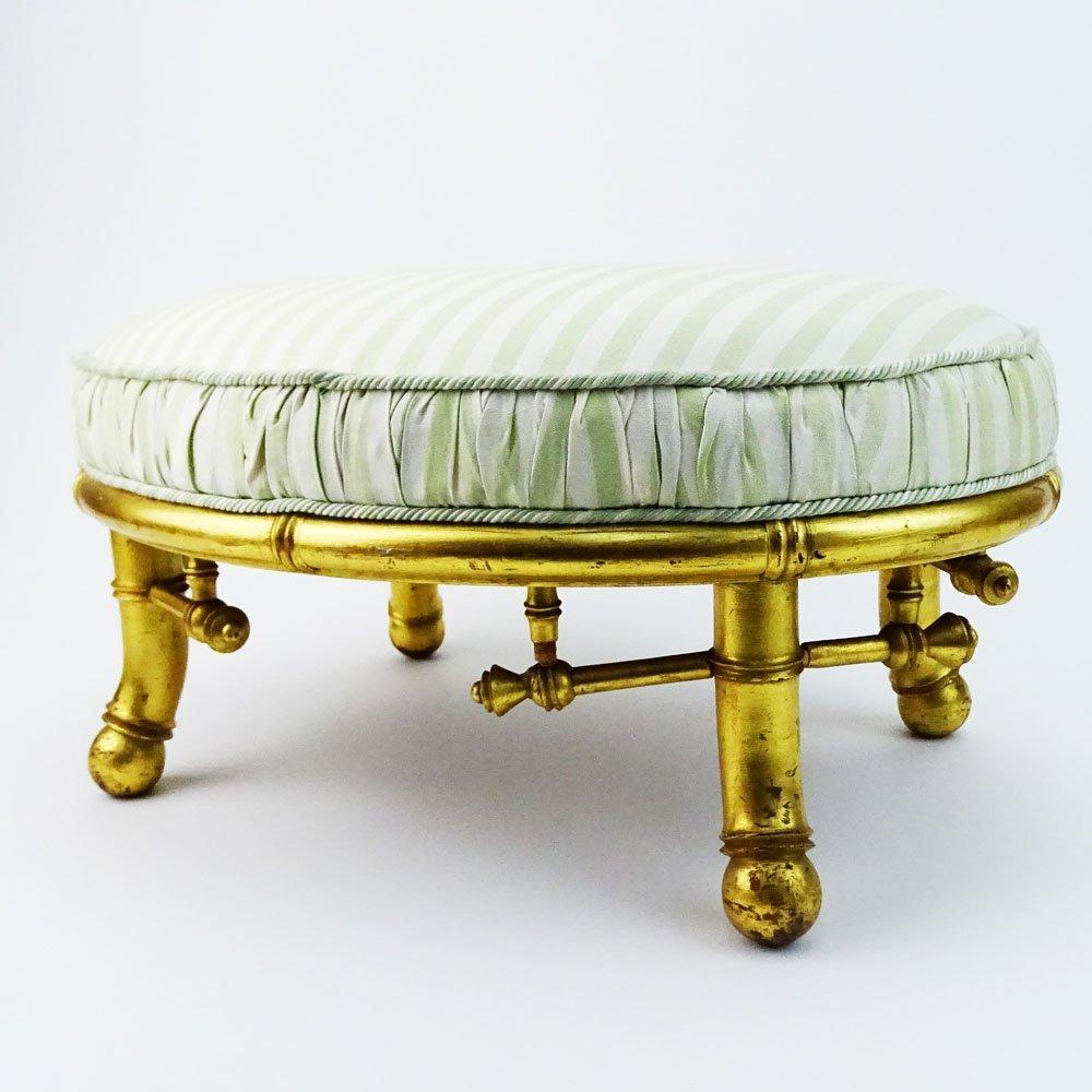 Bancroft & Dyer Furniture Gilt Wood Bamboo Style - 5