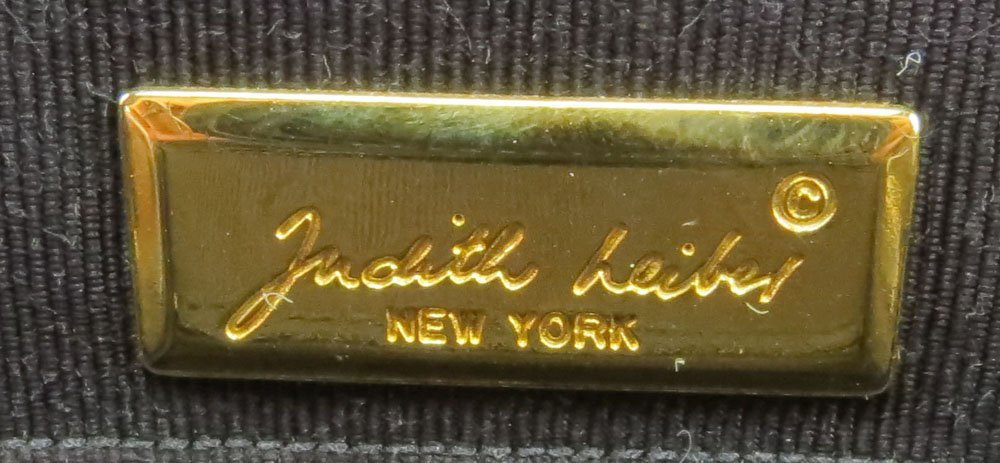 Judith Leiber New York Black Lizard Skin and Gemstone - 6