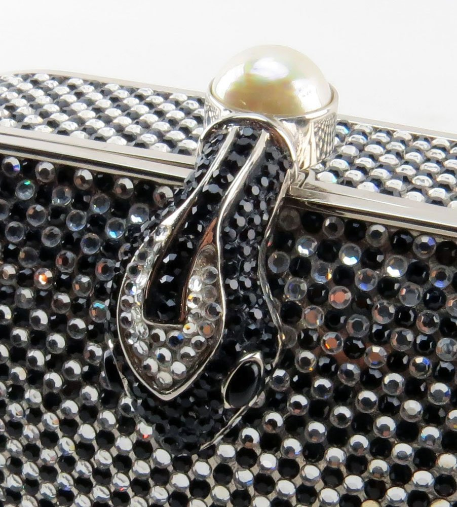 Judith Leiber New York Black and Silver Swarovski - 4