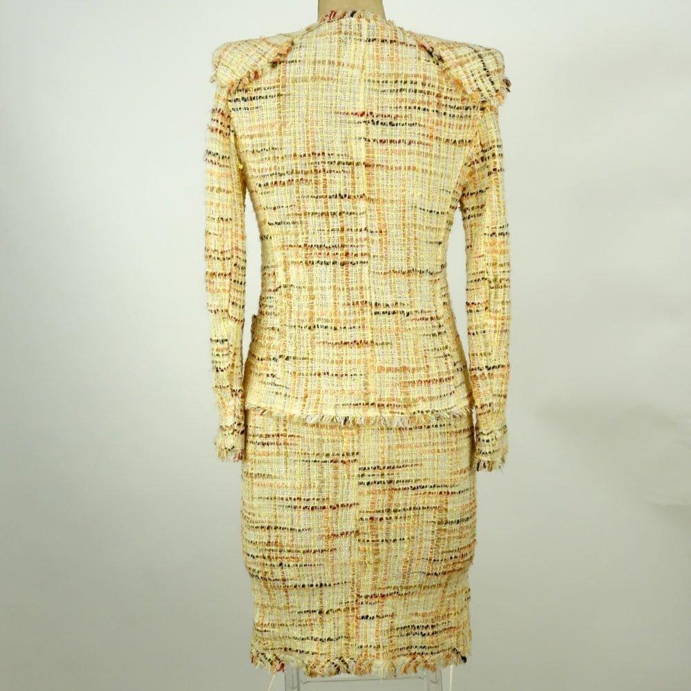 Chanel Boutique Colorful Retro Style Tweed Suit Set. - 4