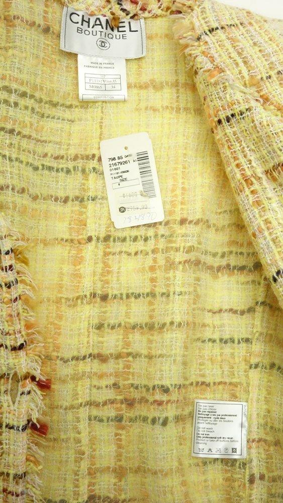 Chanel Boutique Colorful Retro Style Tweed Suit Set. - 5