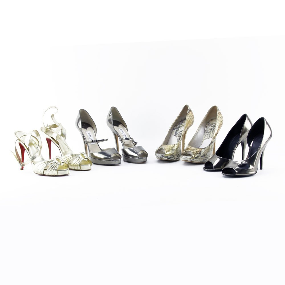 Four (4) Pair of Lady's Shoes Including Christian