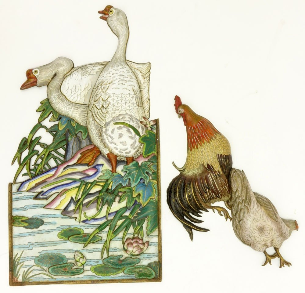 Grouping of Two (2) 19th Century Chinese Cloisonné - 3