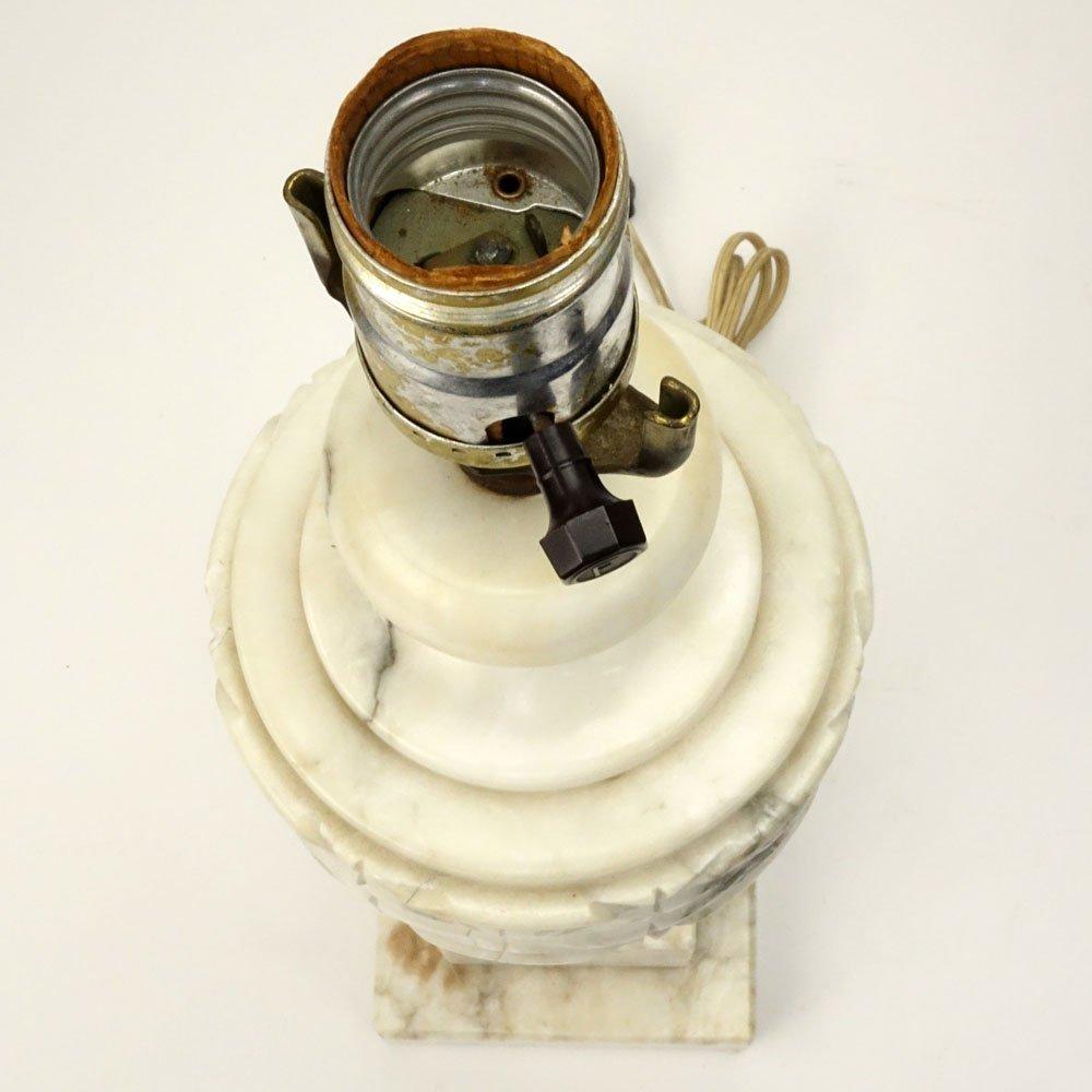 Mid 20th Century Italian Carved Alabaster Lamp. - 3