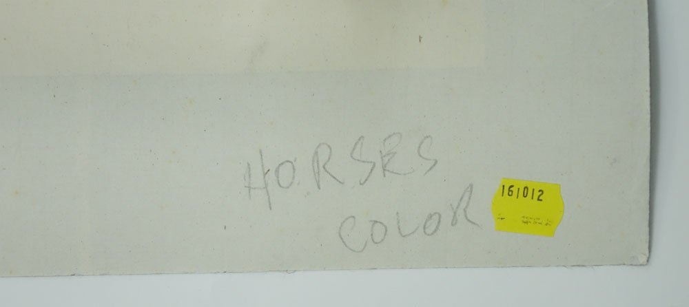 "20th Century Chinese Watercolor on Paper. ""Horses"" - 6"