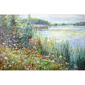 Large Contemporary Oil On Canvas Impressionist