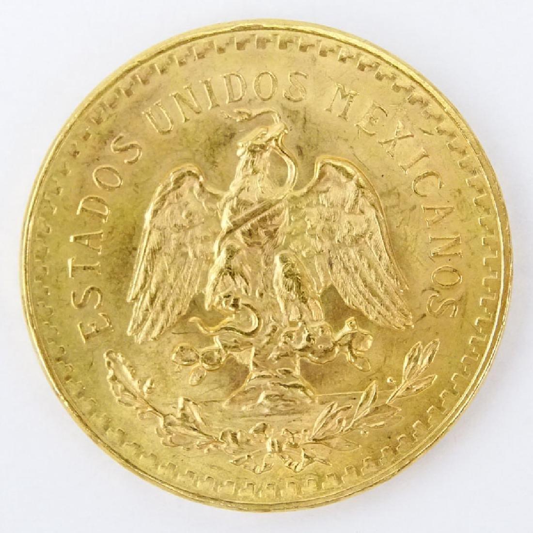 1821-1947 Mexican 50 Pesos Gold Coin. Approx. 41.8 - 2