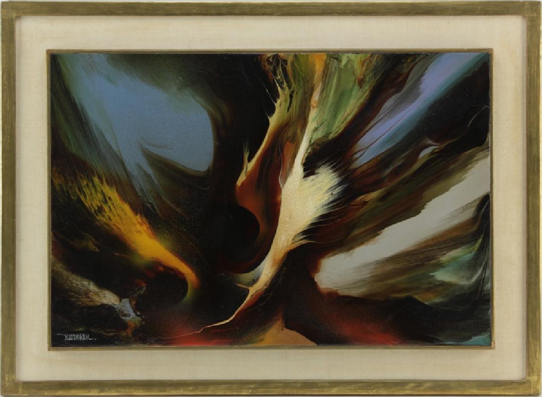 Leonardo M. Nierman, Mexican/American (b-1932) Abstract - 2