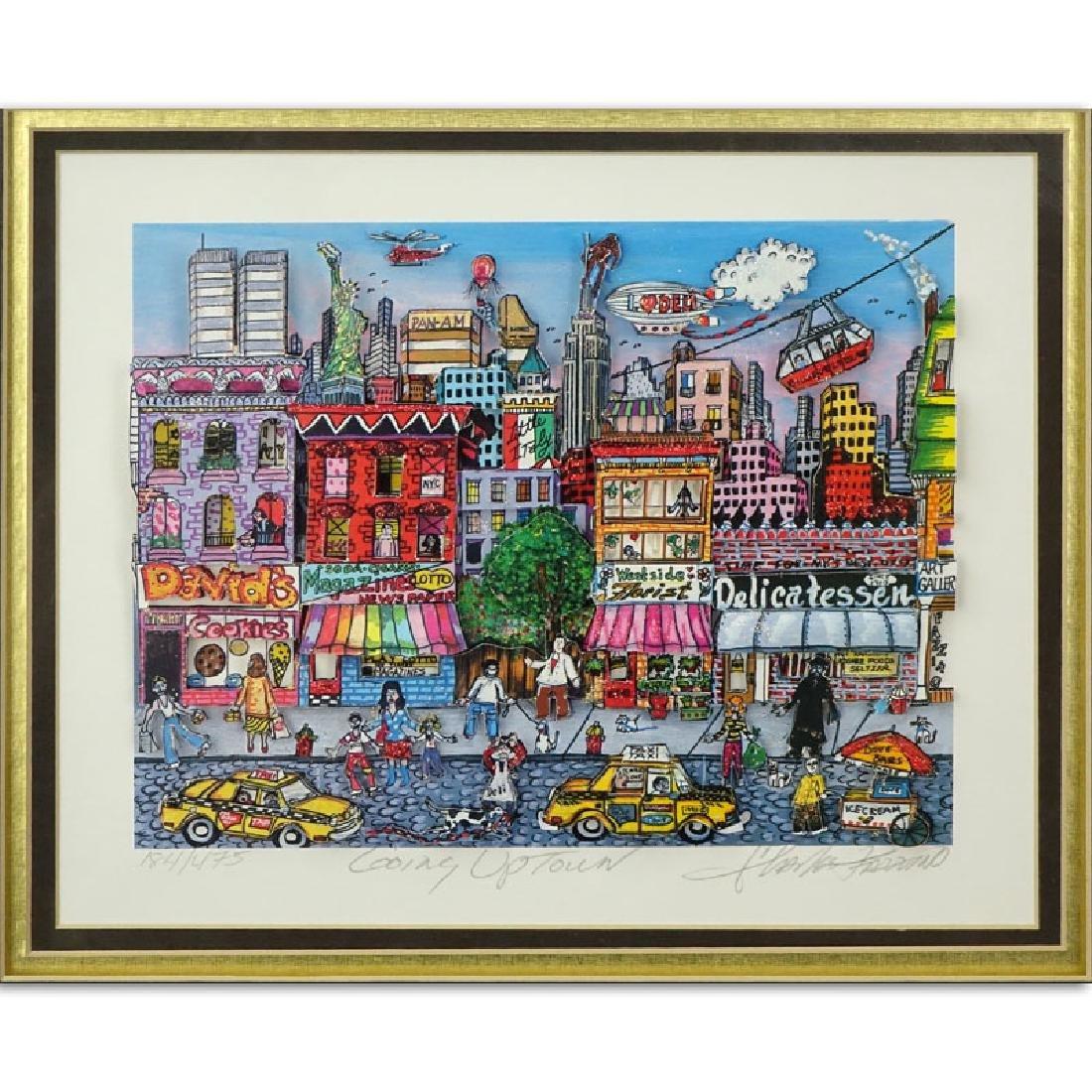 "Charles Fazzino, American (b-1955) 3-D Pop Art ""Going"