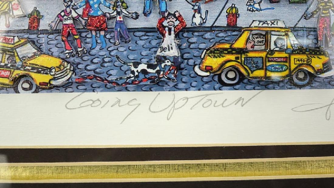 "Charles Fazzino, American (b-1955) 3-D Pop Art ""Going - 4"