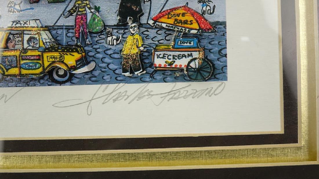 "Charles Fazzino, American (b-1955) 3-D Pop Art ""Going - 5"