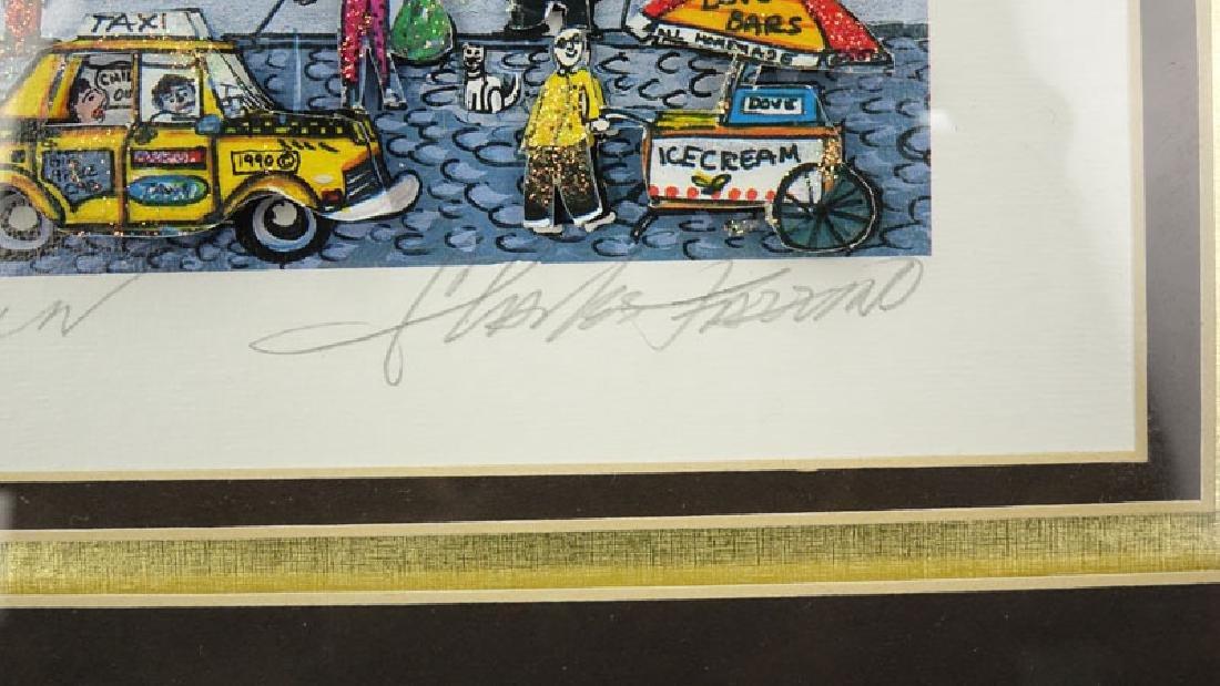 "Charles Fazzino, American (b-1955) 3-D Pop Art ""Going - 6"