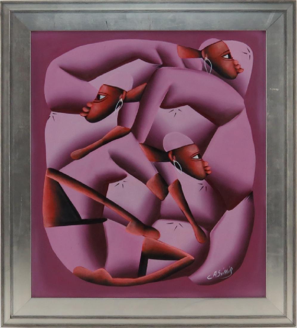 Laurent Casimir, Haitian (1928-1990) Oil on Canvas - 2