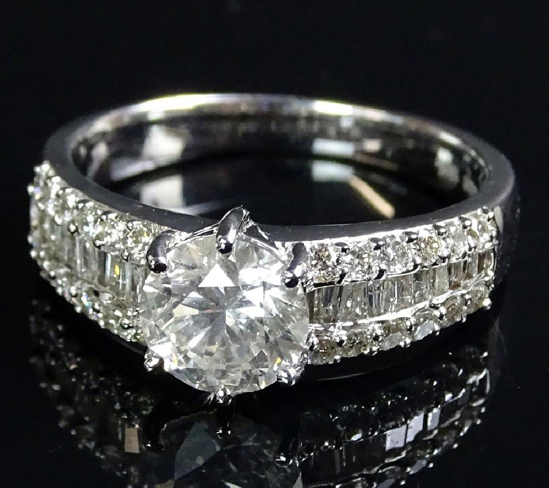 AIG Certified 1.85 Carat Diamond and 18 Karat White