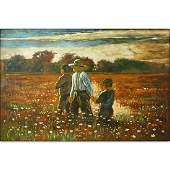 20th Century American School Oil on Canvas Landscape