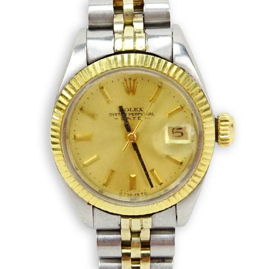 Lady's Vintage Rolex Oyster Perpetual Date Stainless