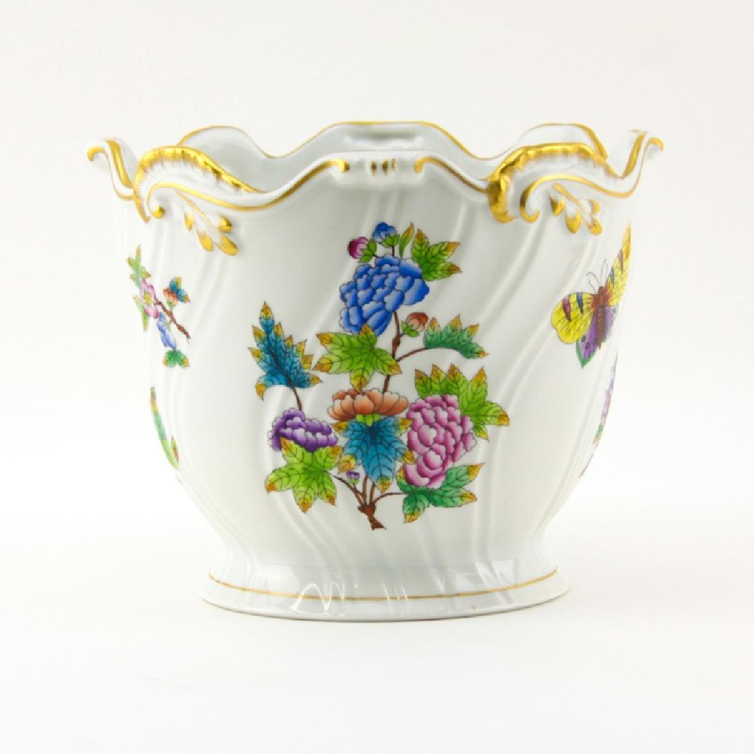 Herend Queen Victoria Handpainted Porcelain Cachepot