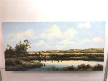 Signed, Oil on Board, 'Heinie Hartwig'