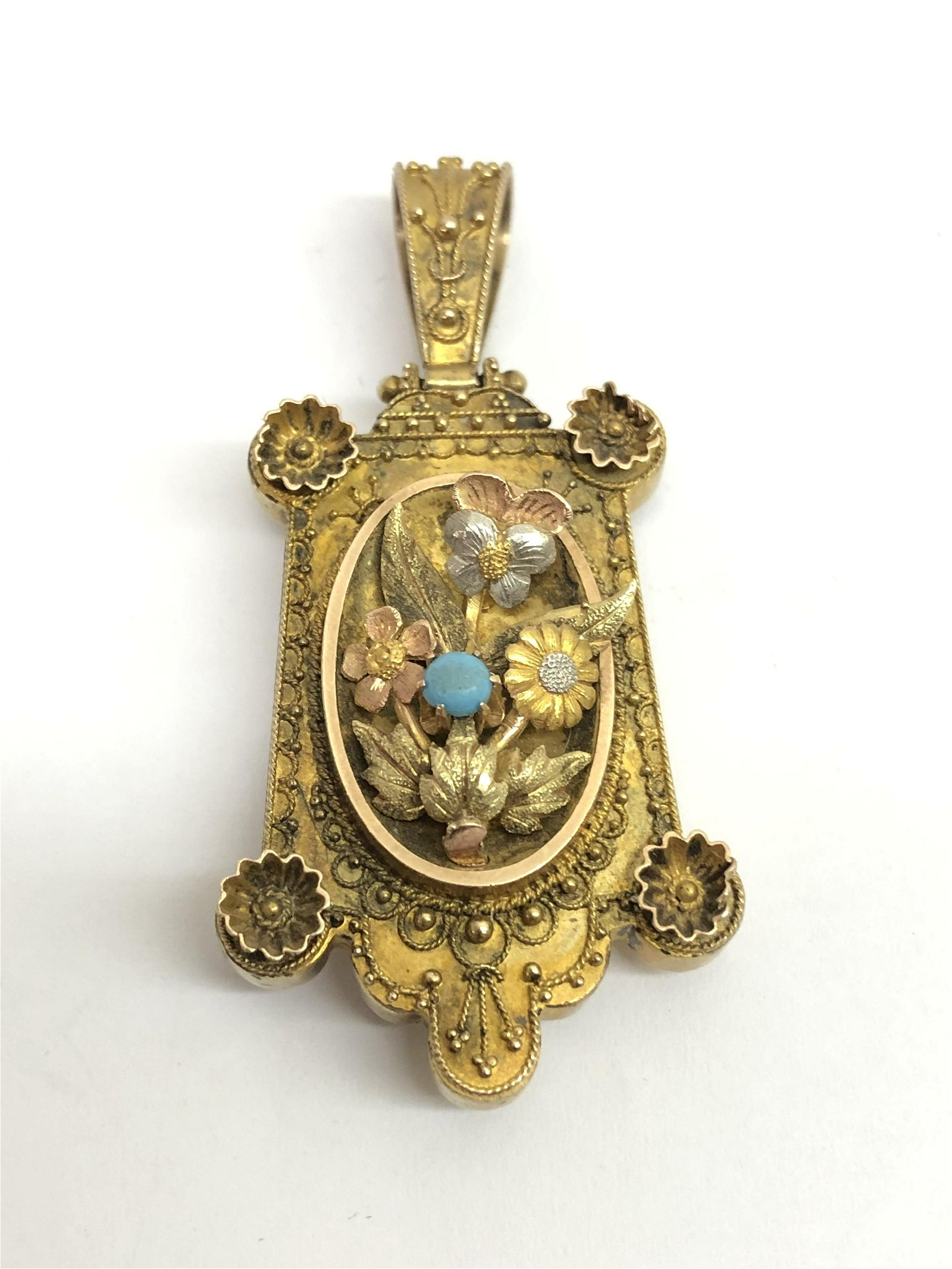Victorian Etruscan Revival 14K Gold Locket - Ornate w/