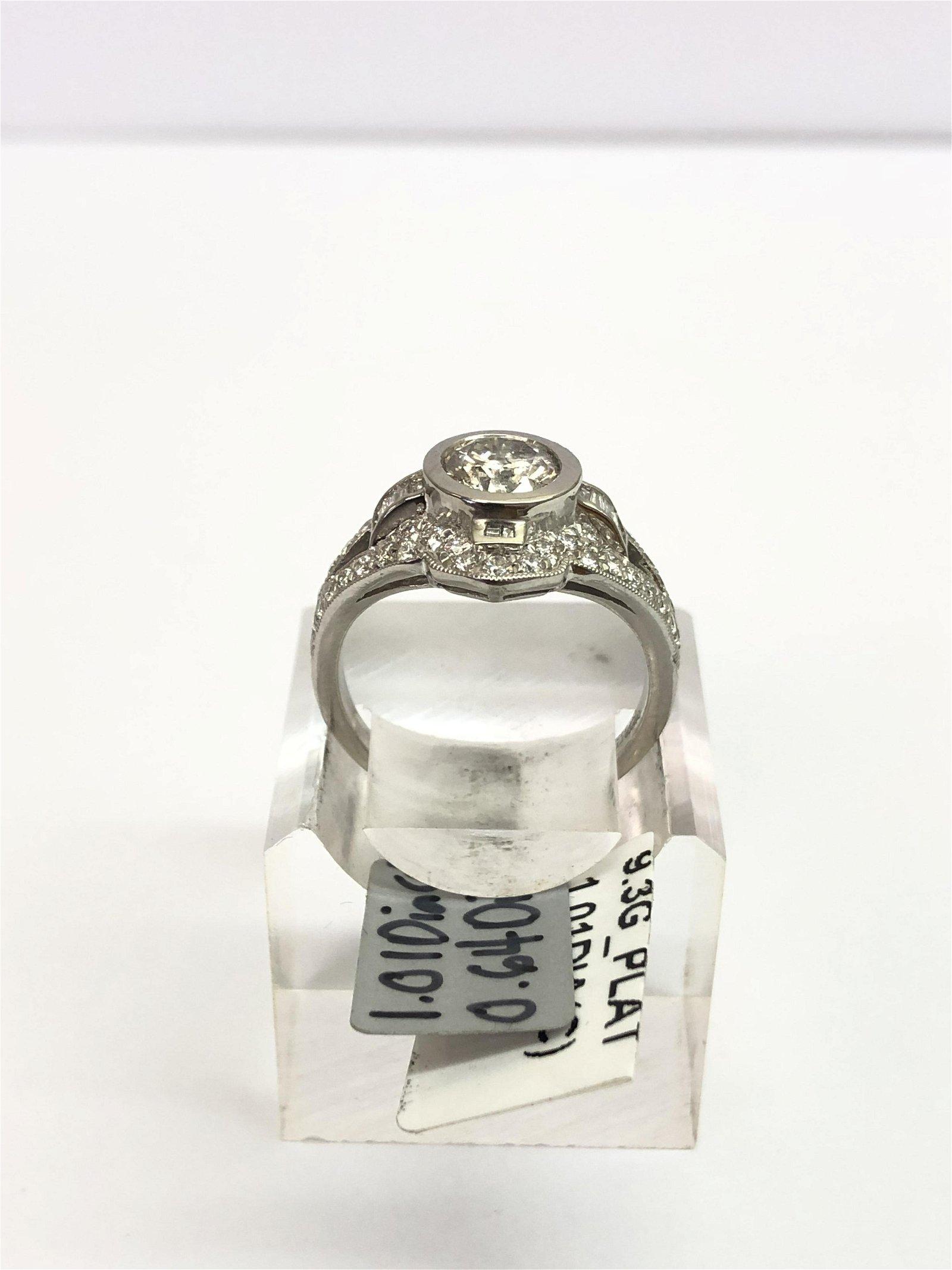 Certified Platinum 1.01ct Diamond Ring - Size 7, 58