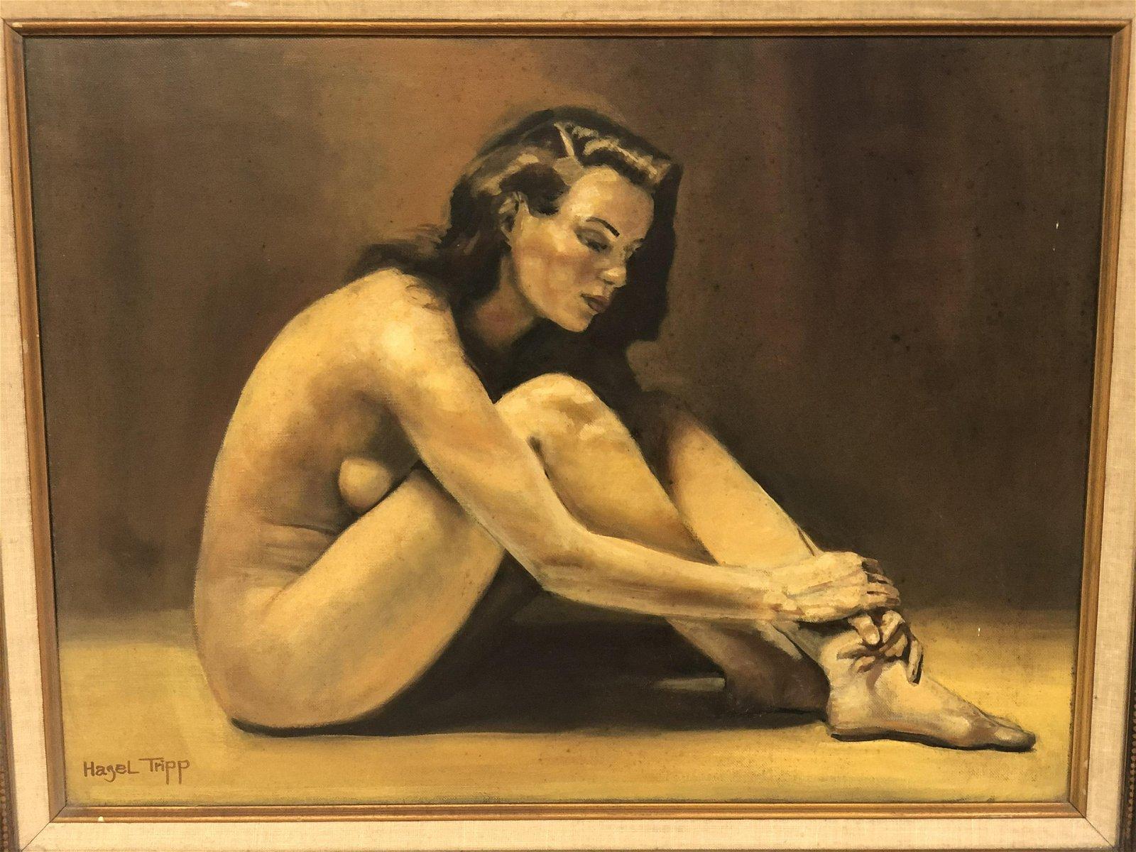 CA Artist, 'Hazel Tripp' Nude on Canvas