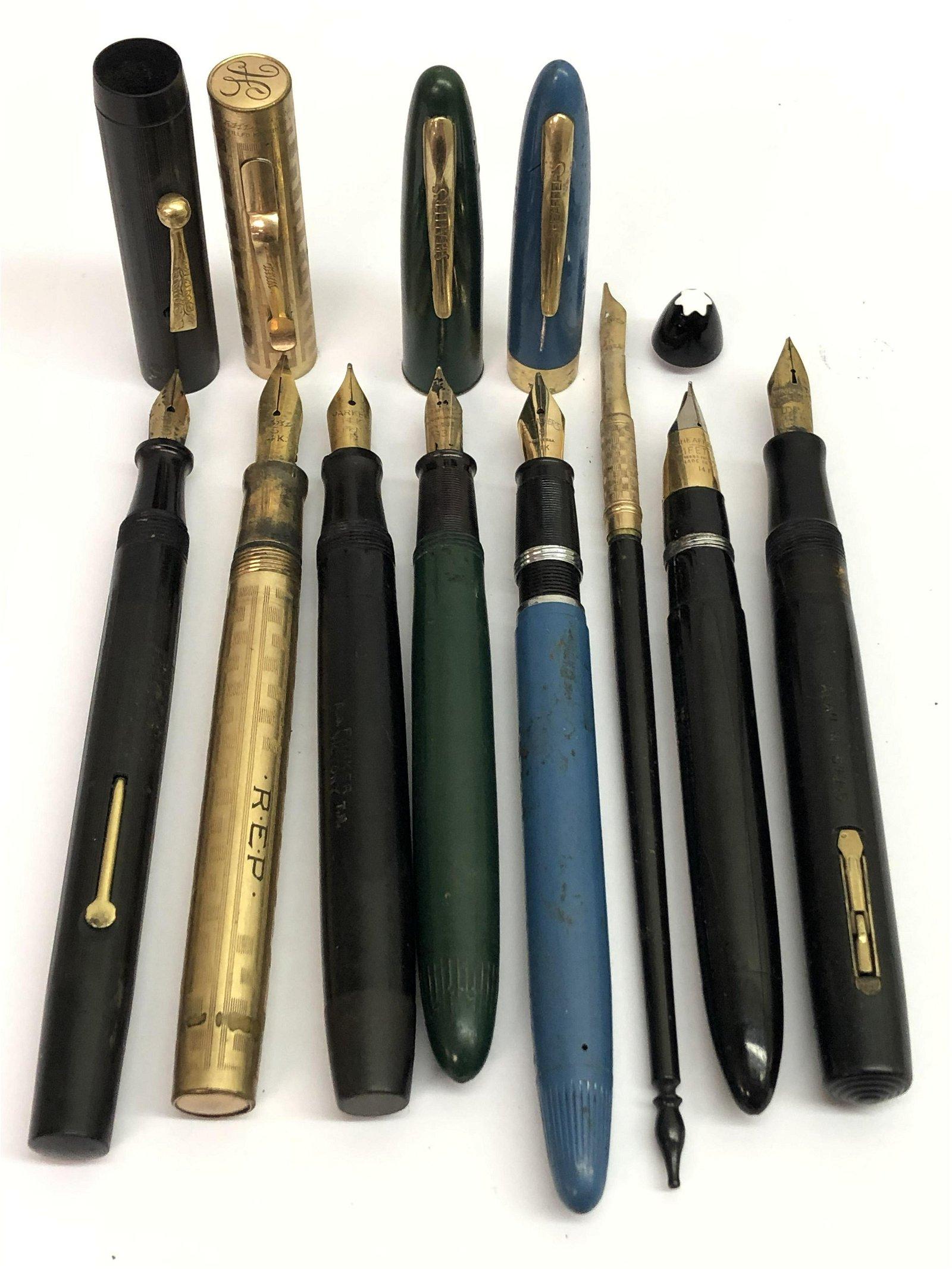 Asst 14K Fountain Pen Nibs & Pens