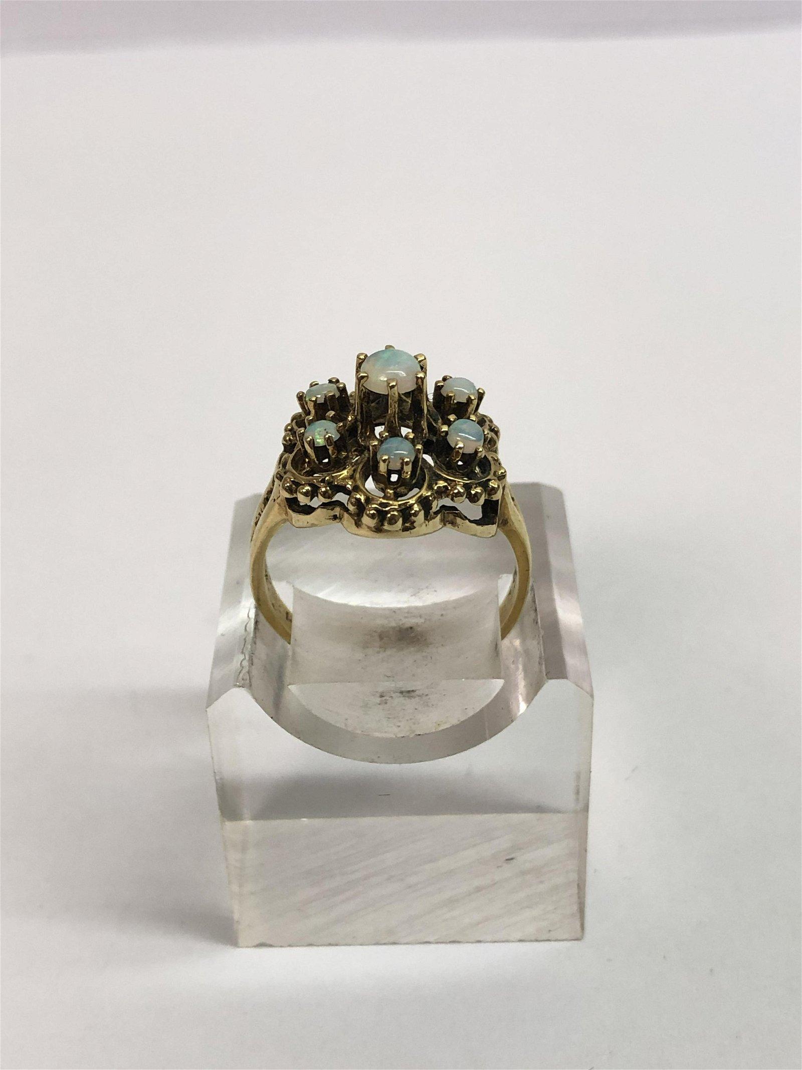 Vintage, 14K Gold Opal Ring
