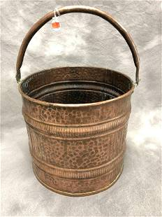 Large Hand Hammered Copper Pot