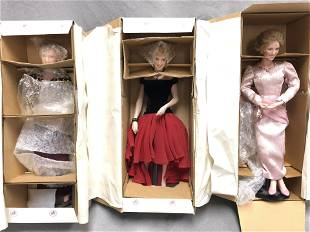 3 Ashton Drake Princess Diana Dolls