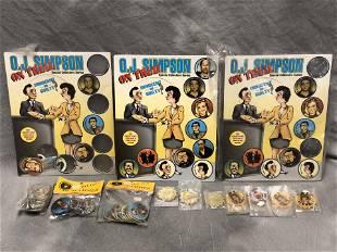 OJ Simpson on Trial Pogs Complete Metal Slammers