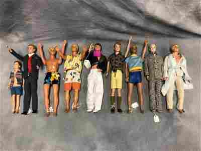 (9)1960s Mattel Ken & Ricky Dolls