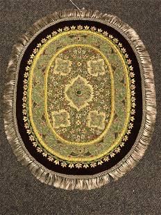Handmade Tapestry Jade Gemstone Accents