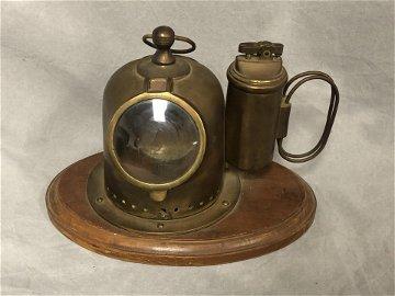 Brass/ Copper Mini Dive Helmet Ashtray, Lighter