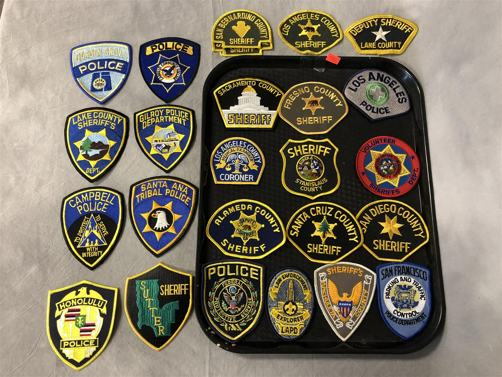 20+ Police / Sheriff Patches, Asst States